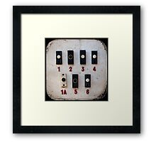 Blackpool Doorbells Framed Print