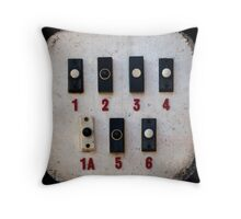 Blackpool Doorbells Throw Pillow