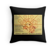 Ethics equals empathy x respect squared  Throw Pillow