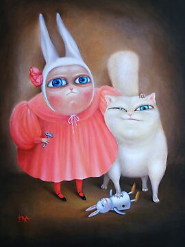 Together forever 31&quot; x 24&quot;. Original Painting - Sold by Irena Aizen