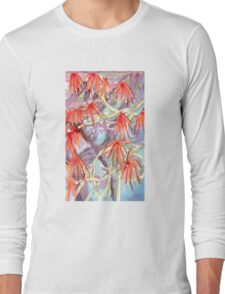 spiny red flowers Long Sleeve T-Shirt