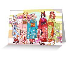 Mahou Shoujo: Kimono Ver. Greeting Card