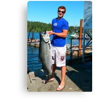 Daniel & His Catch Of The Day Canvas Print