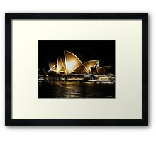 Gold By Night Framed Print