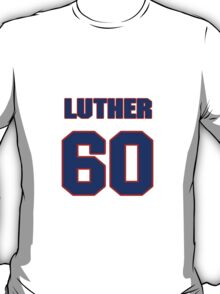 National football player Luther Henson jersey 60 T-Shirt