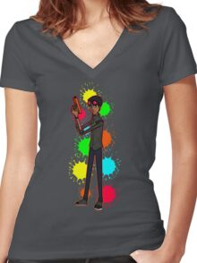 Paintball - Come With Me Women's Fitted V-Neck T-Shirt