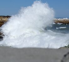 The Atlantic hitting the West coast of South Africa at Lamberts bay by Benzo