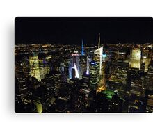 Times Square from Above Canvas Print
