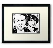 Dean & Sam Supernatural - Sharpie Drawings Framed Print