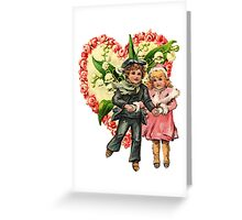 VALENTINE SWEETHEART SKATERS Greeting Card