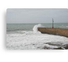 Summer Waves crashing  Canvas Print