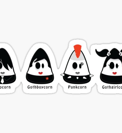 emo, gothic and punk candy corn :) Sticker