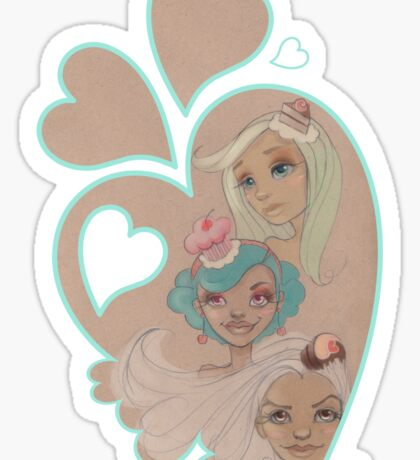 Lolita Sweets & Hearts Sticker