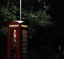 Public phone box by Asenna