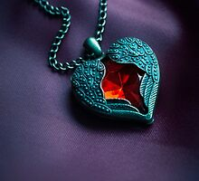 Winged heart with red gem by JBlaminsky