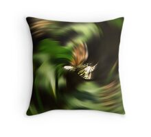 Twisting his World Upside Down Throw Pillow