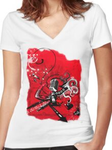 The Remonstrator Red1 Women's Fitted V-Neck T-Shirt