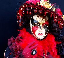 Spanish Lady in Black & Red by VeniceCarnival