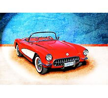 1956 Corvette Roadster Photographic Print