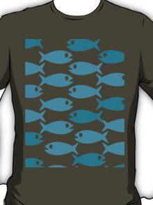 Blue fish pattern T-Shirt