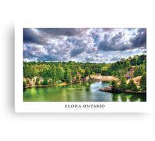 Elora Ontario [Captioned & Credited - WHITE]  Canvas Print