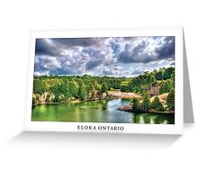 Elora Ontario [Captioned & Credited - WHITE]  Greeting Card