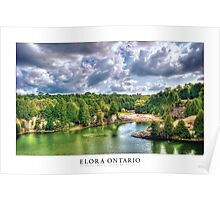 Elora Ontario [Captioned & Credited - WHITE]  Poster