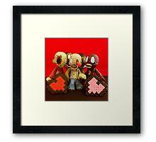 Zombie Valentines Framed Print