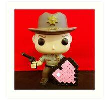 Rick Grimes Valentines Art Print
