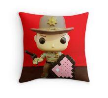 Rick Grimes Valentines Throw Pillow