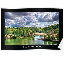 Elora Ontario [Captioned & Credited - BLACK] Poster