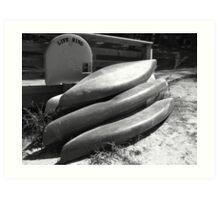 Stacked Boats Art Print