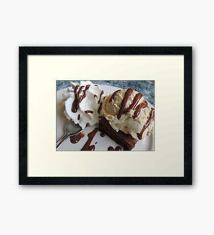 Annette's Brownie and Ice Cream  Framed Print