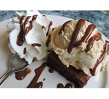 Annette's Brownie and Ice Cream  Photographic Print
