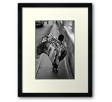 Cement Worker Framed Print