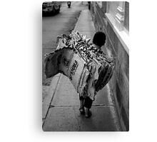 Cement Worker Canvas Print