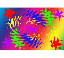 Psychedelic Splodge Photographic Print