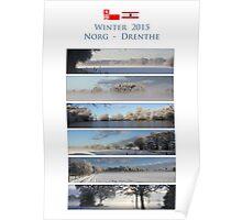 Winter in Drenthe Poster