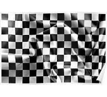 Chequered Flag Poster