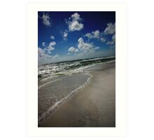 Blue Mountain Beach Art Print