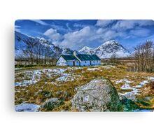 Blackrock Cottage, Glencoe, Scotland. Canvas Print