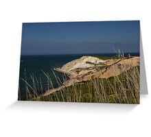 Cliffs of Martha's Vineyard Greeting Card