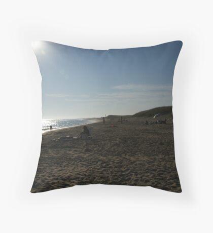 South Beach, Martha's Vineyard Throw Pillow