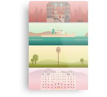 A 'Wes Anderson' Collection Poster Print Metal Print
