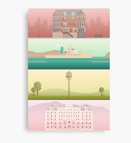 A 'Wes Anderson' Collection Poster Print Canvas Print