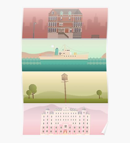 A 'Wes Anderson' Collection Poster Print Poster