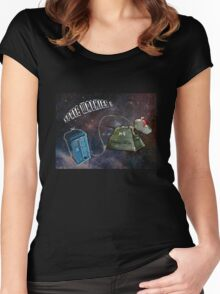 Space Walkies! Women's Fitted Scoop T-Shirt