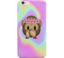 Monkey in a Flower Crown Emoji Design iPhone Case/Skin
