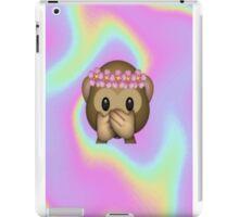 Monkey in a Flower Crown Emoji Design iPad Case/Skin