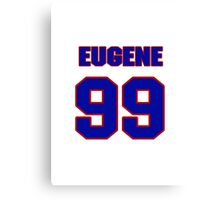 National football player Eugene Marve jersey 99 Canvas Print